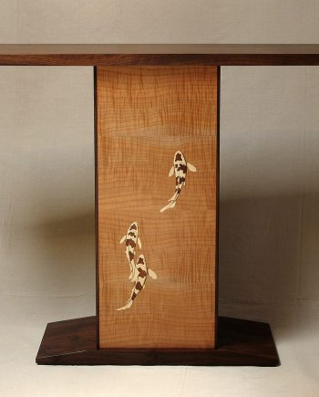 Entry Table - Three Koi Fish by Matthew Werner (Wooden Table)
