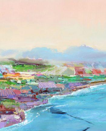 Fields of Grey by John Maxon. (Oil Landscape Painting)