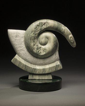 Fiery Flying Serpent by Dahrl Thomson. (Stone Serpent Sculpture)