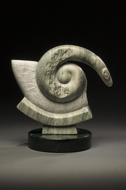 Fiery Flying Serpent by Dahrl Thomson. (Stone Serpent Sculpture)