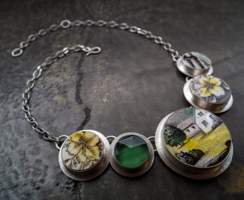 Grassy Meadow Necklace by Amy Faust. (Hand-made Silver Necklace)