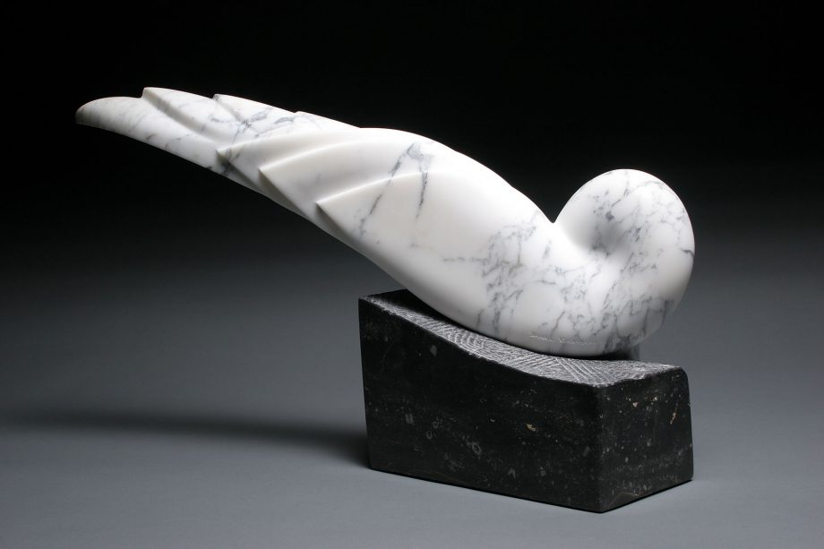 Inclined to Stay by Dahrl Thomson. (Abstract Stone Sculpture)