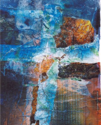 Journey of Escape by Stella St.Pierre White. (Abstract Mixed Media Painting)