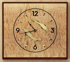 Koi Clock by Matthew Werner. (Hand-made Wooden Clock)