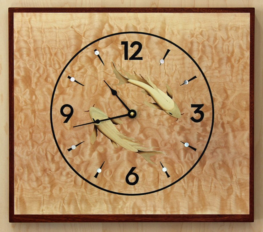 Koi Clock by Matthew Werner. (Hand-made Wooden Clock)