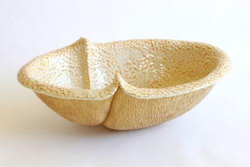 Large Peanut IV by Emil Yanos. (Stoneware Ceramic Vessel)