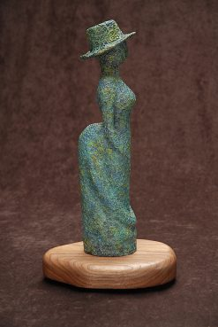 Lunch With Rodin: Seurat by Tomi LaPierre. (Bronze Figurative Sculpture)