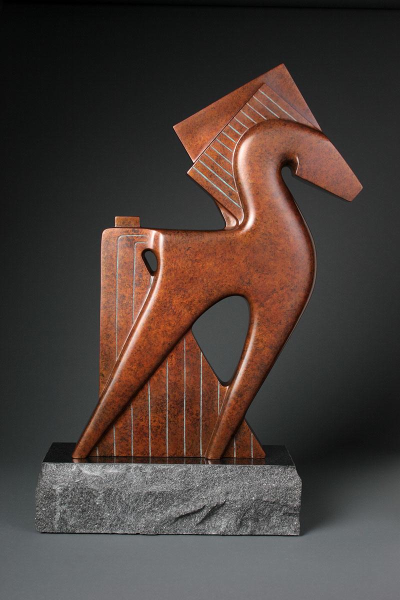 Maximum Steed by Dahrl Thomson. (Bronze Horse Sculpture)