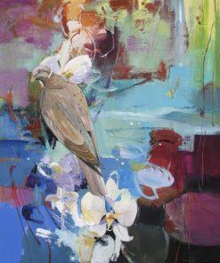 Morning Dove by John Maxon. (Oil Nature Painting)