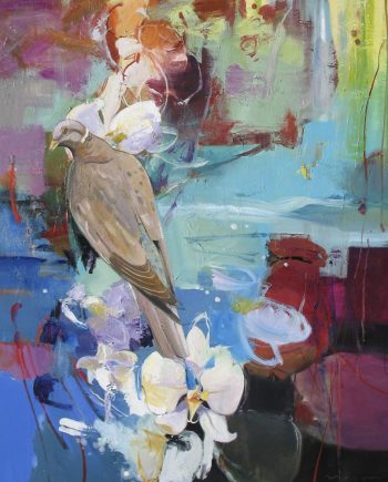 Morning Dove by John Maxon. (Oil Nature Painting)