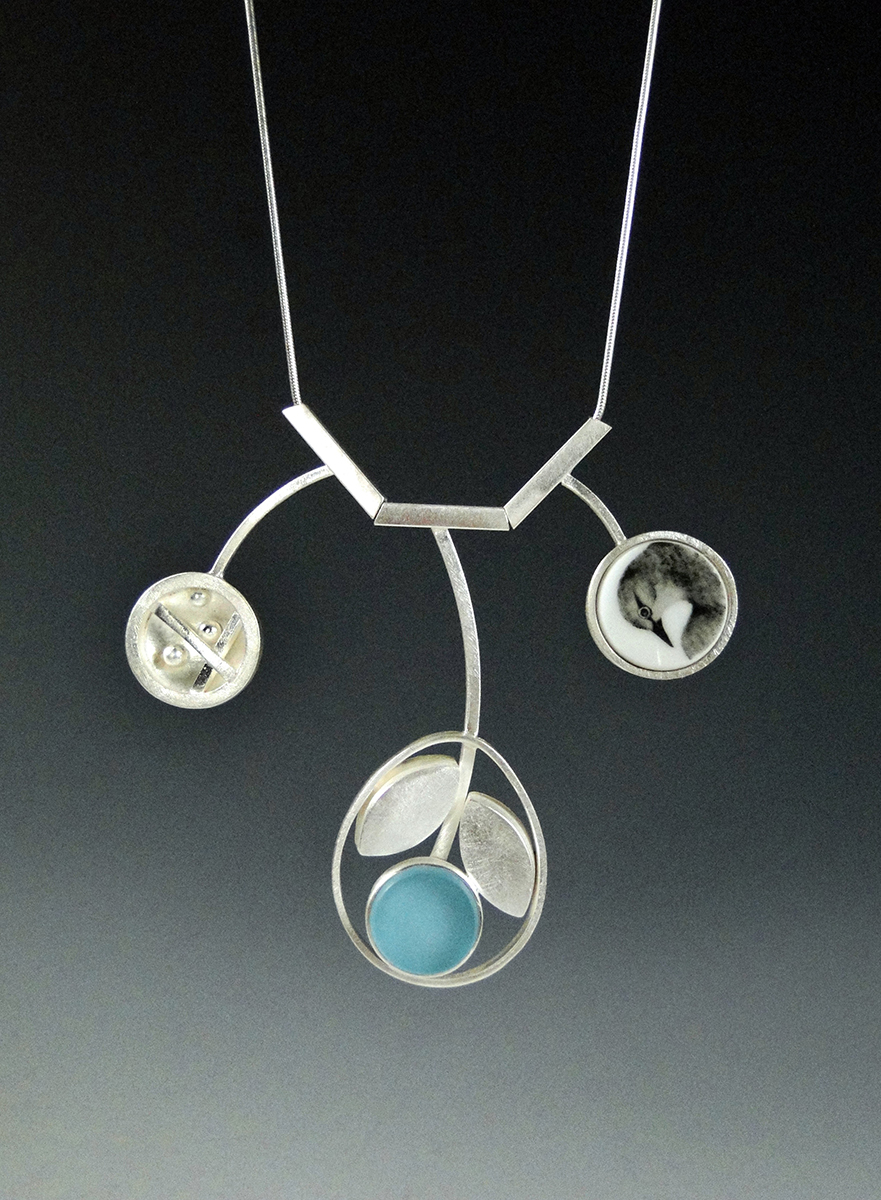 Natural Angles Necklace by Amy Faust. (Hand-made Silver Necklace)