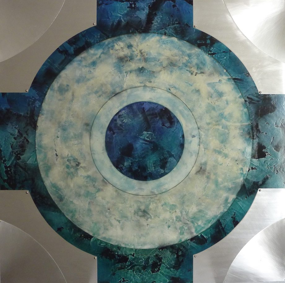 Orb 1 by Helene Steene. (Abstract Mixed Media Painting)