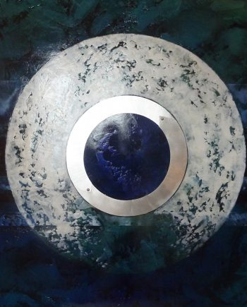 Orb 3 by Helene Steene. (Abstract Mixed Media Painting)