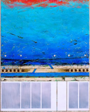 Paros Revisited I by Helene Steene. (Abstract Mixed Media Painting)