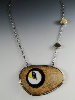 Peekaboo Necklace by Amy Faust. (Hand-made Silver Necklace)