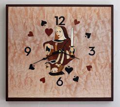 Queen Over King Clock by Matthew Werner. (Hand-made Wooden Clock)