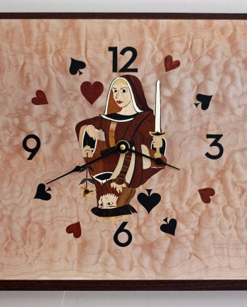 Queen Over King Clock by Matthew Werner. (Hand-made Wooden Clock)