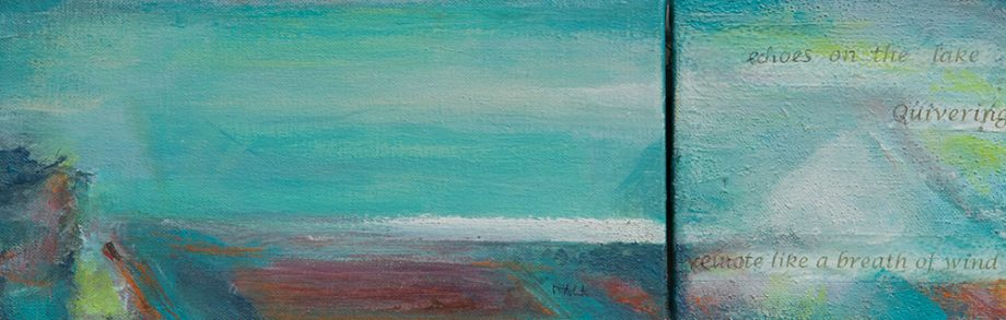 Quivering Waves by Itala Langmar. (Abstract Acrylic Painting)