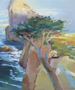 Rocky Point by John Maxon. (Oil coastal Painting)
