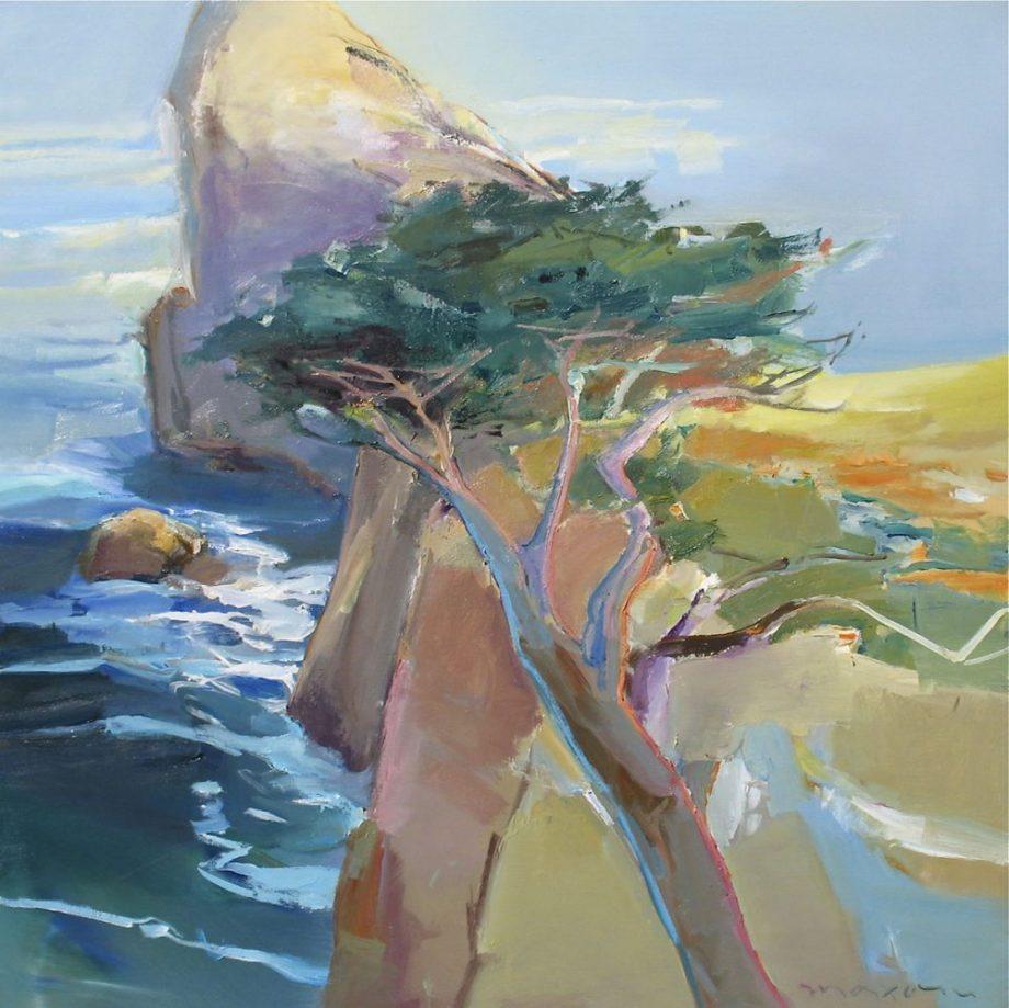 Rocky Point by John Maxon. (Oil coastal Painting)