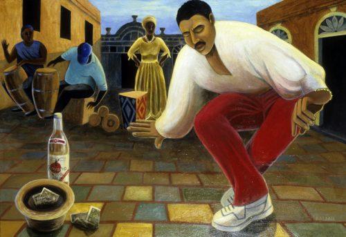 Rumba Taller Gráfica by Sue Matthews. (Folk Painting of Cuba)
