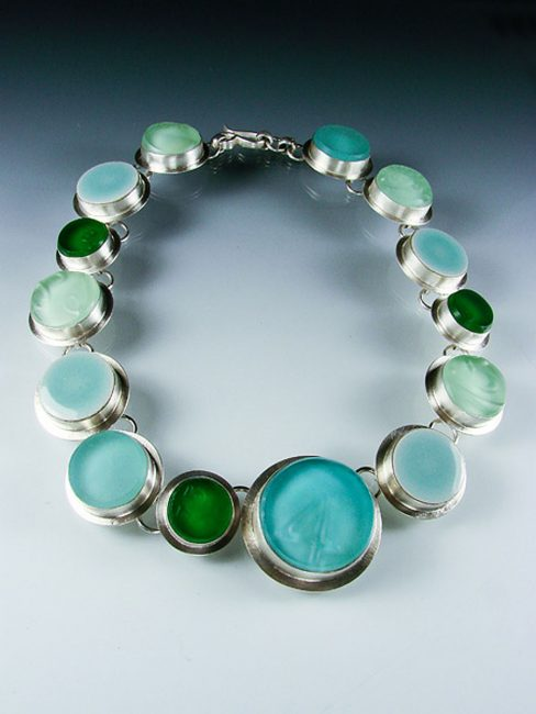 Sea of Circles by Amy Faust. (Hand-made Silver Necklace)