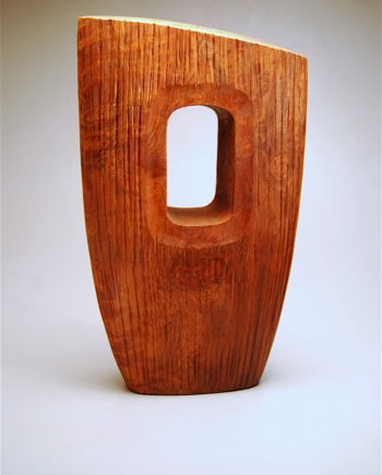 Solstice Stone by Bruce Mitchell. (Abstract Wood Sculpture)
