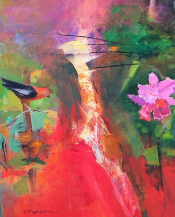Song Bird by John Maxon. (Oil Nature Painting)