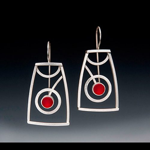 Sonia Earrings by Amy Faust. (Hand-made Silver Earrings)