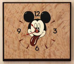 Sticky Mickey Clock by Matthew Werner. (Hand-made Wooden Clock)