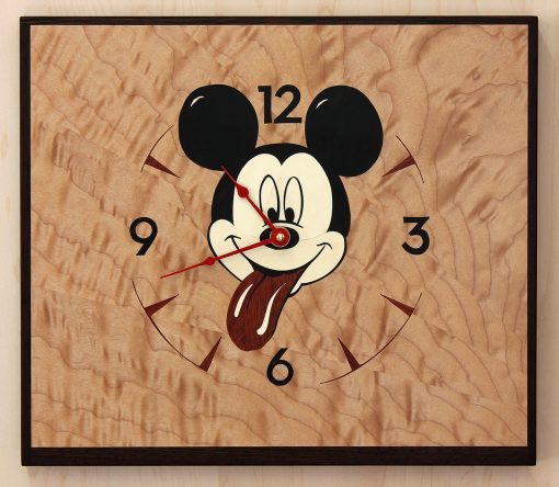 Sticky Mickey Clock by Matthew Werner. (Hand-made Wooden Clock)