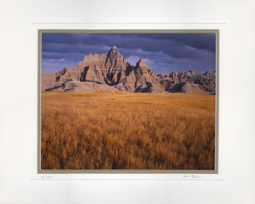 Storm Over The Badlands - matted by John Barger. (Landscape Photography)