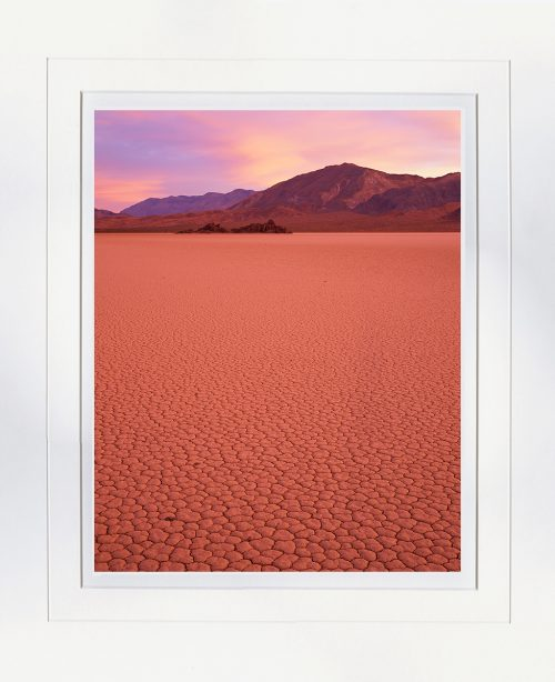 Sunrise Racetrack Playa - matted by John Barger. (Landscape Photography)