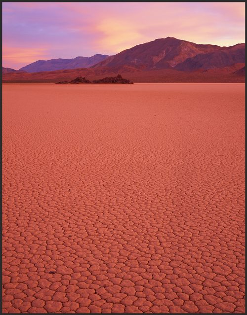 Sunrise Racetrack Playa - duraplaq mounted by John Barger. (Landscape Photography)