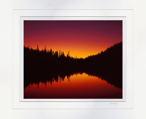 Sunset, Reflection Lake by John Barger. (Landscape Photography)