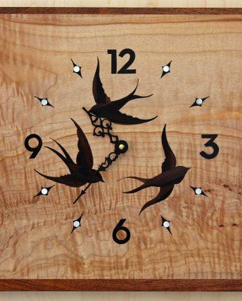 Swift Clock by Matthew Werner. (Hand-made music stand)