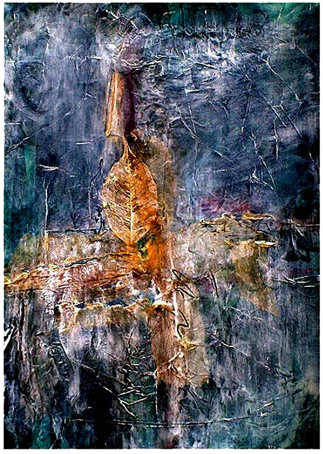 The Peacekeeper by Stella St.Pierre White. (Abstract Mixed Media Painting)