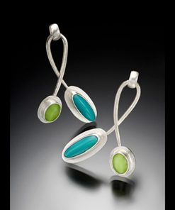 Twist Earrings by Amy Faust. (Hand-made Silver Earrings)
