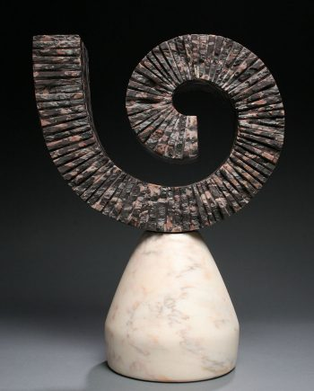 Unwound by Dahrl Thomson. (Abstract marble Sculpture)