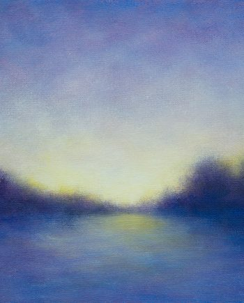 Evening Memory 1 by Victoria Veedell. (Oil Landscape Painting)