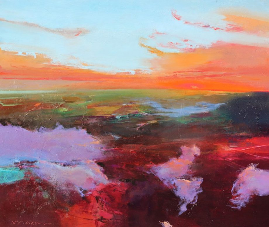 Violet Pathway by John Maxon. (Oil Landscape Painting)