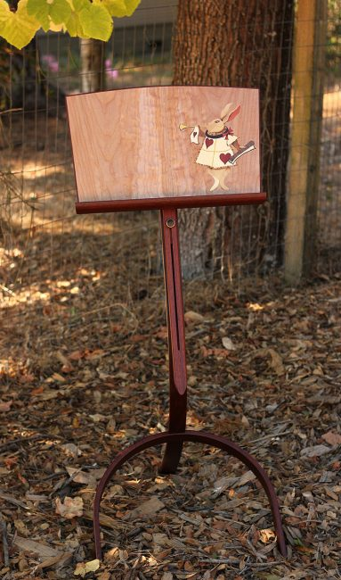 White Rabbit Music Stand by Matthew Werner. (Hand-made music stand)