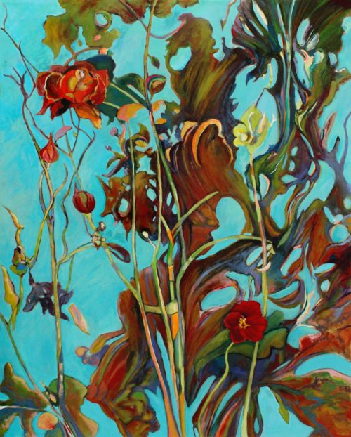 Wildwood Rose by c. ellen hart. (Oil Nature Painting)