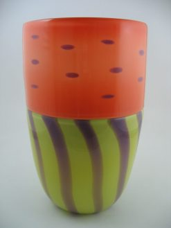 Incalmo Vase Dot & Stripe by Pizzichillo & Gordon Glass. (Art Glass Vase)