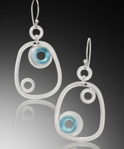 Loops and Hoops Earrings by Amy Faust. (Hand-made Silver Earrings)