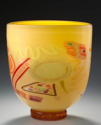 Primrose Vase by Pizzichillo & Gordon Glass. (Art Glass Vase)