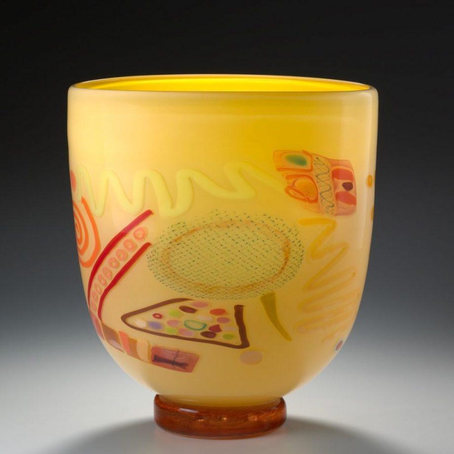Primrose Vase by Pizzichillo & Gordon Glass. (Art Glass Vase)