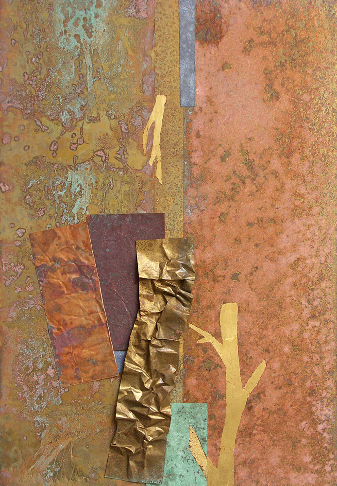 Yield & Overcome by Flora Davis. (Metal Wall Sculpture)