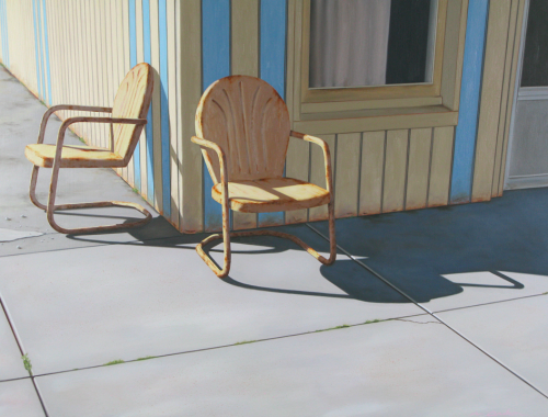90° In The Shade by Matt Condron. ( Oil Painting)