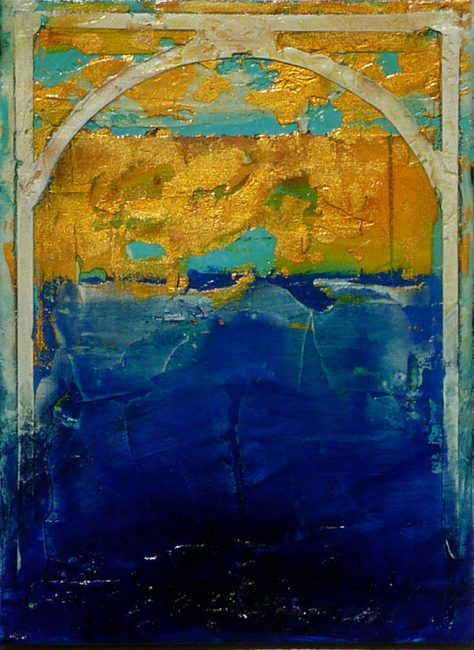 Arch II by Helene Steene. (Abstract Mixed Media Painting)